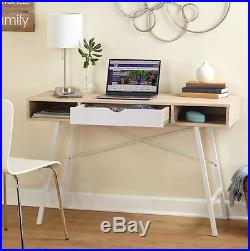 Small Desk Mid Century Modern Mini Writing Console Table Computer Dorm Student