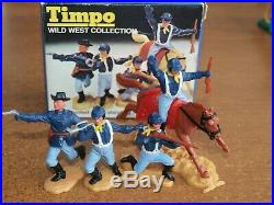 TIMPO, 7th CAVALRY / ACW, TOY SOLDIERS. IN ORIGINAL BOX. 1/32 SCALE