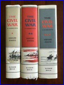 The Civil War, A Narrative by Shelby Foote, 3 Volume Set, 2010 Folio Society