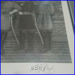 The Confederate Generals from the American Civil War Sketch & Frame 1861-1865
