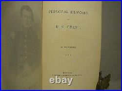 U. S. Grant. Personal Memoirs. First edition, 1885-86, full publisher's morocco
