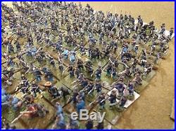 Very Large Collection of 15mm ACW Union & Confederate Painted Miniature Armies