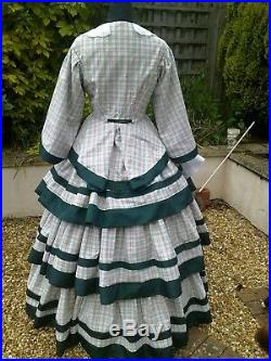 Victorian/American Civil War Ballgown Made to Measure No Upper Size Limit