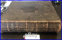 Vintage 1870 Holy Bible New York American Bible Society Post Civil War Antique