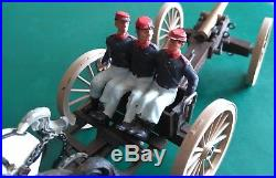 Vintage Britains No. 7464 American Civil War Gun Team & Limber. Federal Team