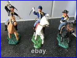 Vintage Timpo Mounted 7th Calvary American CIVIL War White Gloved Yankees X 5
