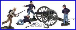 W Britain ACW Death Of Cushing Diorama, #31196, #31197 And #31225 NIB