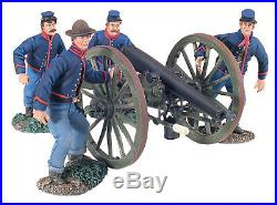 W Britain Acw #31148 Union Artillery Set No. 4 Running Up Retired